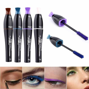 1 Pcs Mascara Waterproof Eyelashes Lengthening Extension Color Ink Makeup Eye Lashes Black Purple Blue Brown Volume 3D Mascara