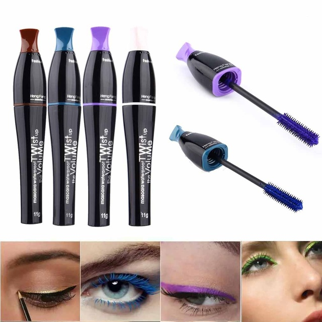 1 Pcs Mascara Waterproof Eyelashes Lengthening Extension Color Ink
