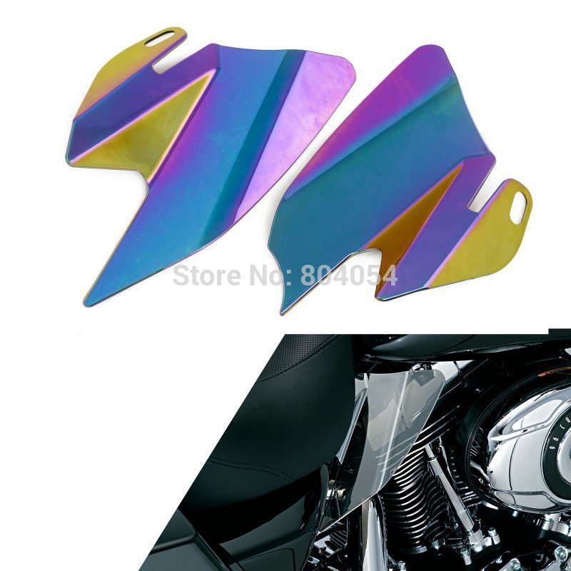 Saddle Shield Heat Deflectors For Harley Davidson Touring Models 2008 Iridium Coated  Colorful motorcycle saddle leather bag storage tool pouch for harley davidson