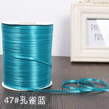 3 мм ширина туркиозные атласные ленты 25 ярдов швейная ткань подарочная упаковка «сделай сам» Свадебные украшения ручной работы