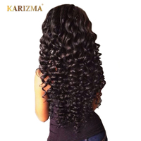 Karizma Peruvian Deep Wave Hair Bundles 8-28inch Non Remy Hair Weave Natural Color Can Be Dyed 1 Piece Only Human Hair Extension