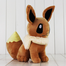 33cm Big Size Japanese Anime Cute Eevee Plush Toy Soft Dolls With Tag Gift for Children