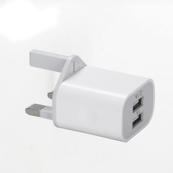 2 USB Ports UK Plug Mobile Phone Charger DC 5V 2.1A Output Power Adapter Used for iPhone iPad Samsung HTC Mobile Phone Tablet PC