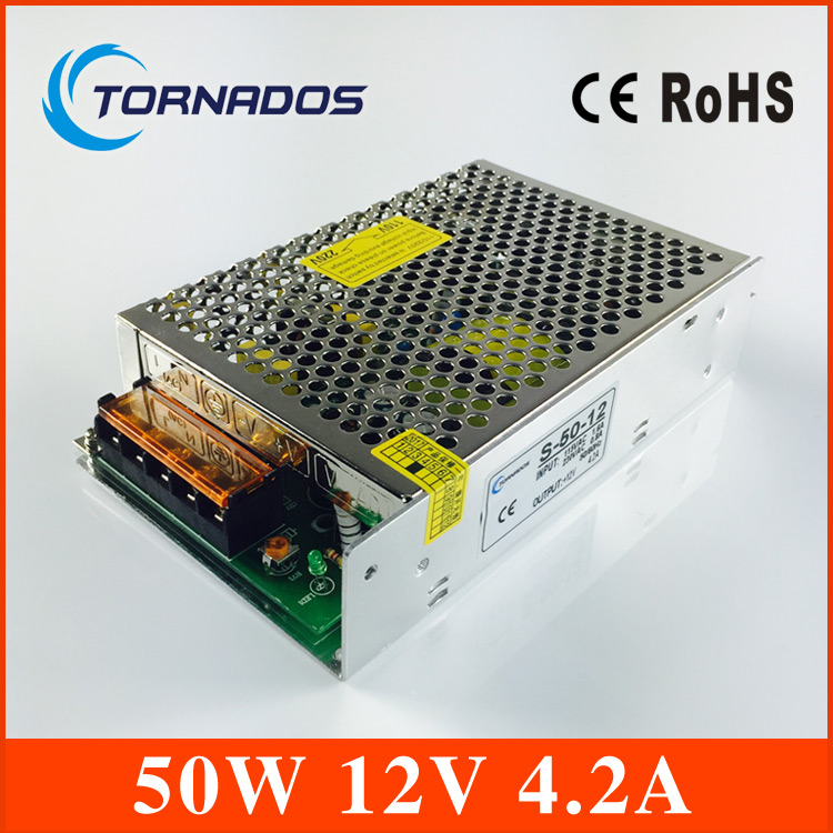 led power supply Single Output Switching power supply 50W 12v 4.2A ac dc converter variable dc voltage regulator S-50-12 12v adjustable voltage regulator 110v 220v converter ac dc led transformer regulable ce 0 12v 33a 400w switching power supply
