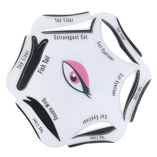 6Pcs Makeup Beauty Cat Eyeliner Smokey Eye Stencil Models Template Shaper Tool 1