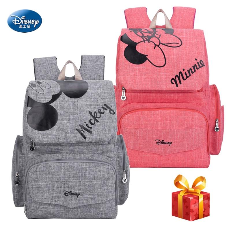 Disney Mummy Diaper Bag Maternity Nappy Nursing Bag For Baby Care Travel Backpack Disney Mickey Minnie Bags Handbag ZT001
