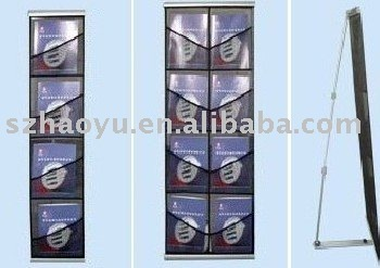 double lines literature stand,netlike brochure holders,fabric magazine racks, catalogue shelf,magazine racks, display equipment