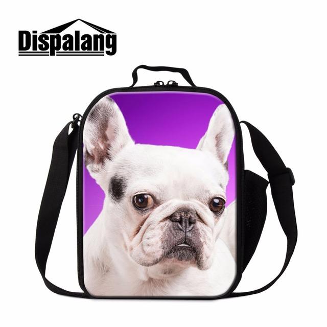Los adultos de Trabajo bolsas de Almuerzo Animal Perro Impreso Almuerzo Aislada Cooler Bag para Niños de Escuela Lindo Bulldog termica párr marmita