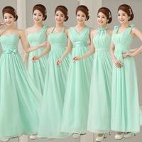 2017 new arrival fresh green bridesmaid dresses for women elegant a line chiffon pleat mint green.jpg 200x200
