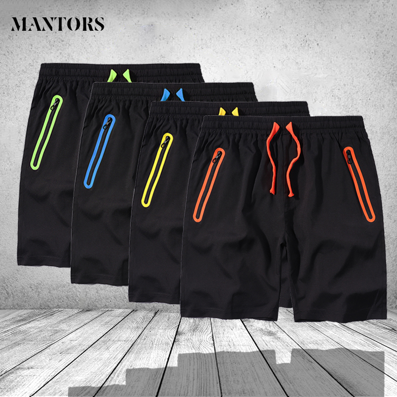 2019 Quick Dry Men   Shorts   Casual Running Jogger   Short   Sweatpant Male Brand Anti-theft Pocket Waterproof Breathable Boardshorts