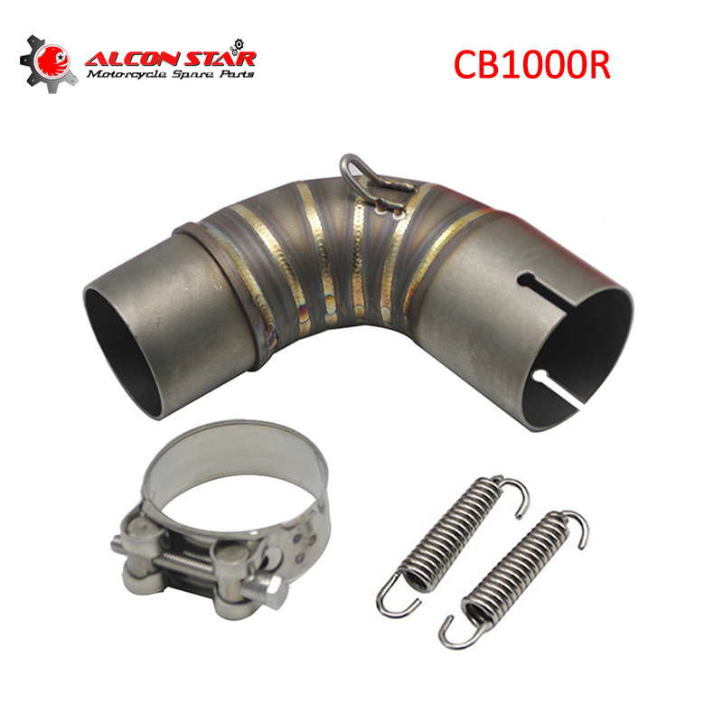Alconstar CB1000R Motorcycle Exhaust Middle Pipe Connect Link Adapter Pipe for Honda CB1000R CB 1000R 2010