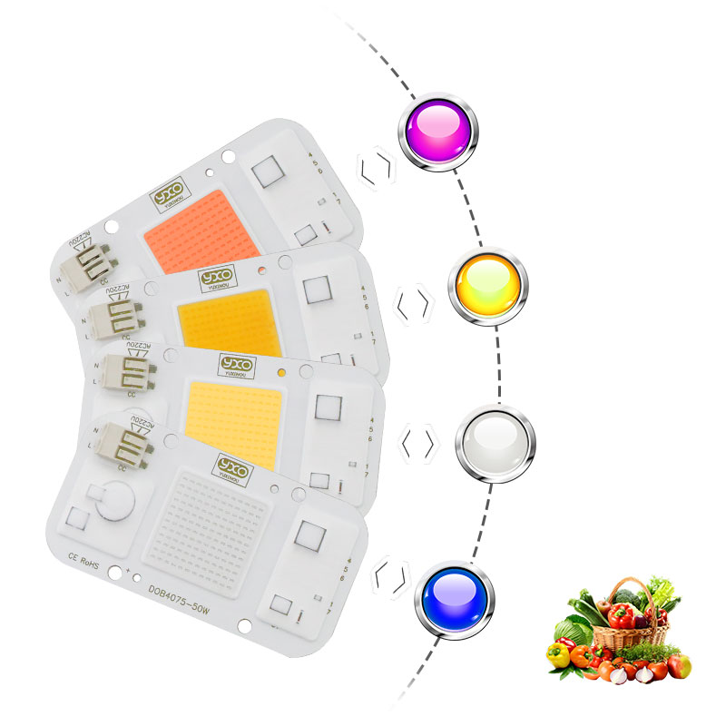 Image 2 - 10PCS Smart IC LED DOB Chip AC 220V 110V 20W 30W 50W LED Lamp Light Cover Lens Reflects DIY For LED Grow Light LED FloodlightLED Grow Lights   -