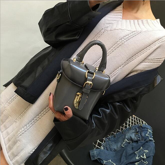 2017 primavera nuevos bolsos de moda de Alta calidad caja de cuero de LA PU Muje
