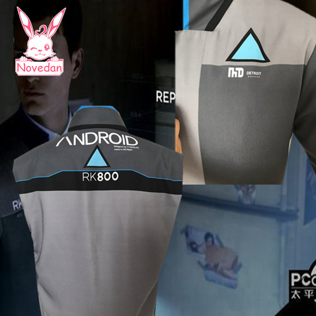 Game Detroit : Become Human Connor RK800 Jacket Agent Suit Uniform Cosplay Costume For Halloween A Man Women 6