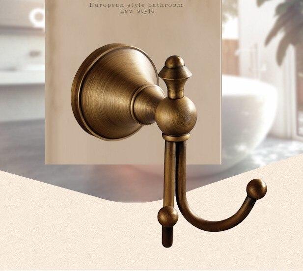New Design European Antique Ceramic Robe Hook , Vintage metal Brass coat hooks,wall hook/ Bedroom hardware accessory decoration