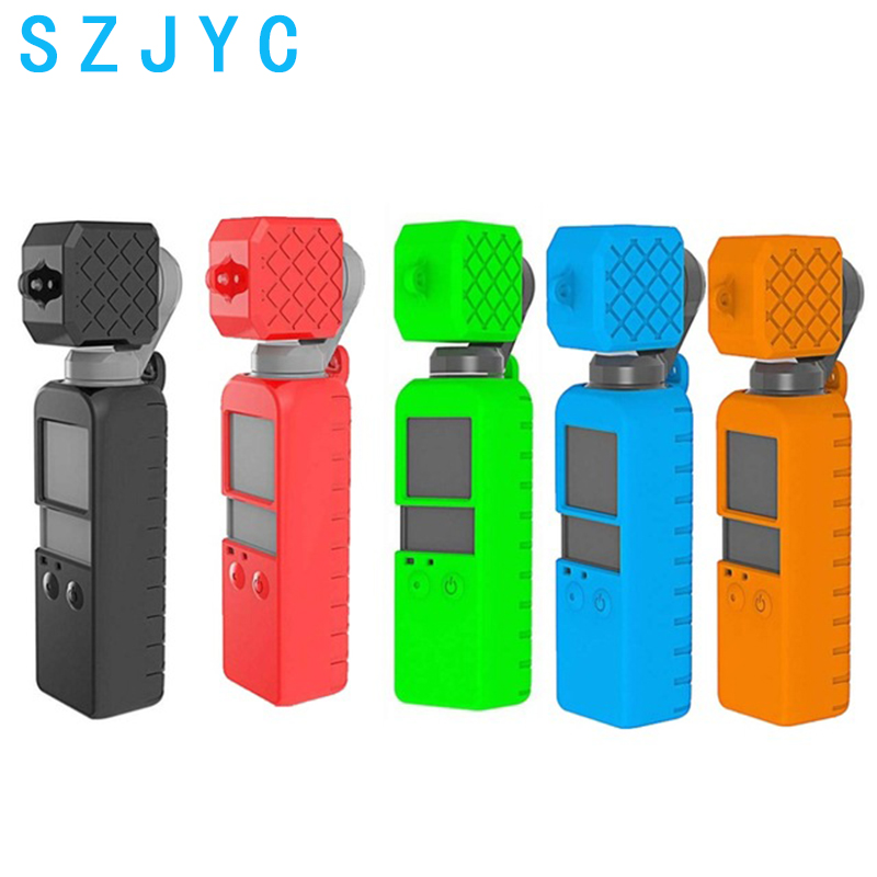 JYC 2in1 Set Osmo Pocket Soft Silicone Gel Body Case Protective Lens Cap Cover for DJI OSMO POCKET Handheld Gimbal Camera