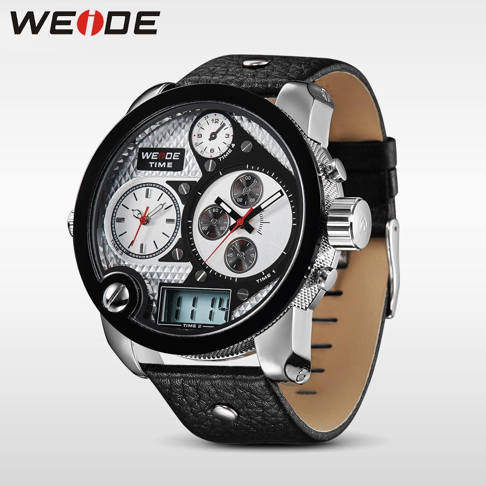 WEIDE Marka Mężczyźni Vintage Wielu Zegarek LCD Quartz 3ATM - Męskie zegarki - Zdjęcie 6