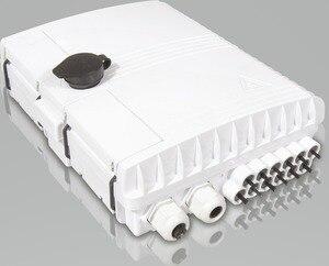 Image 3 - FTTH 12 жильный волоконный терминальный ящик 12 канальный распределительный ящик для помещений и улицы оптоволоконный разделитель ABS