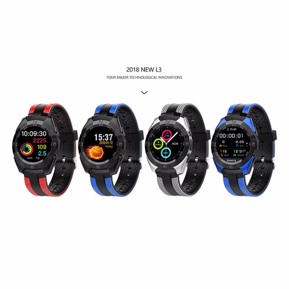 цена на 9.9mm Thin Professional Sports Smart Watch L3 Watch Multi Sports Modes Smart Band Heart Rate Sleep Monitor for Android IOS