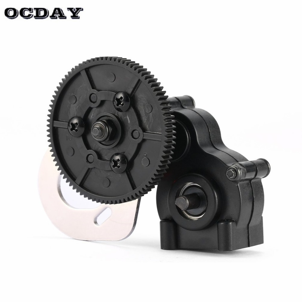 18024 Assembled Transmission Case Center Gearbox for 1/10 HSP 94180 Off-road Crawler Climbing RC Car Model Vehicle ht metal spur gear for hsp pangolin redcat everest 10 upgrade parts 18024 upgraded rc 1 10 rock crawler climber 94180