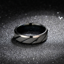 MOREDEAR 6mm Black Twill Ring Titanium Brushed Ring for Men and Women