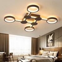 Новый дизайн Современная светодио дный Люстра для гостиной кровать комната Кабинет домашний деко кофе готовая люстра светильники 90 260 В