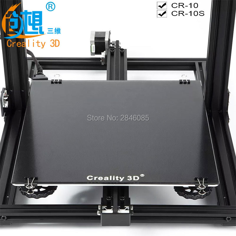 New Creality 3D Ultrabase 3D Printer Platform Heated Bed Build Surface Glass plate 310x310x3mm for MK2 MK3 Hot bed new hot iron sheet plate heat bed platform 3d printer printing buildplate for prusa i3 mk3 mk2 5
