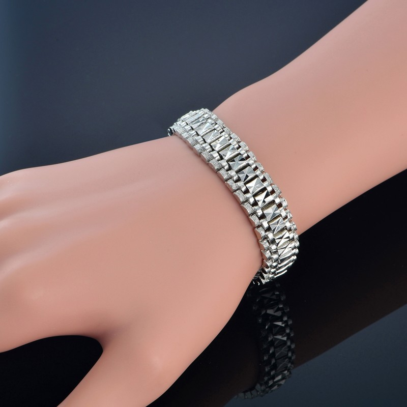 Male Bracelet Women Jewelry 12MM Pulseira Masculine Trendy Gold Color Chunky Chain Link Bracelet Wholesale Bileklik For Man P166 17