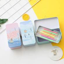 Creative Double Layer Tinplate Box With Storage Lockable Small For Desktop Cosmetic Sundries Iron with Lock