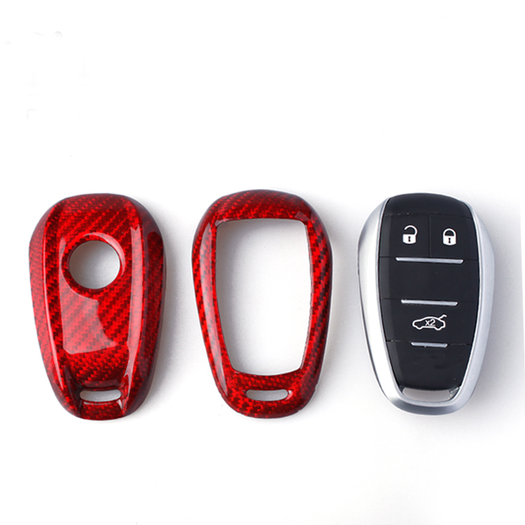 DEE Styling Car Cover Shell for Alfa Romeo Giulia Stelvio 2018 Carbon Fiber Holster Car Key
