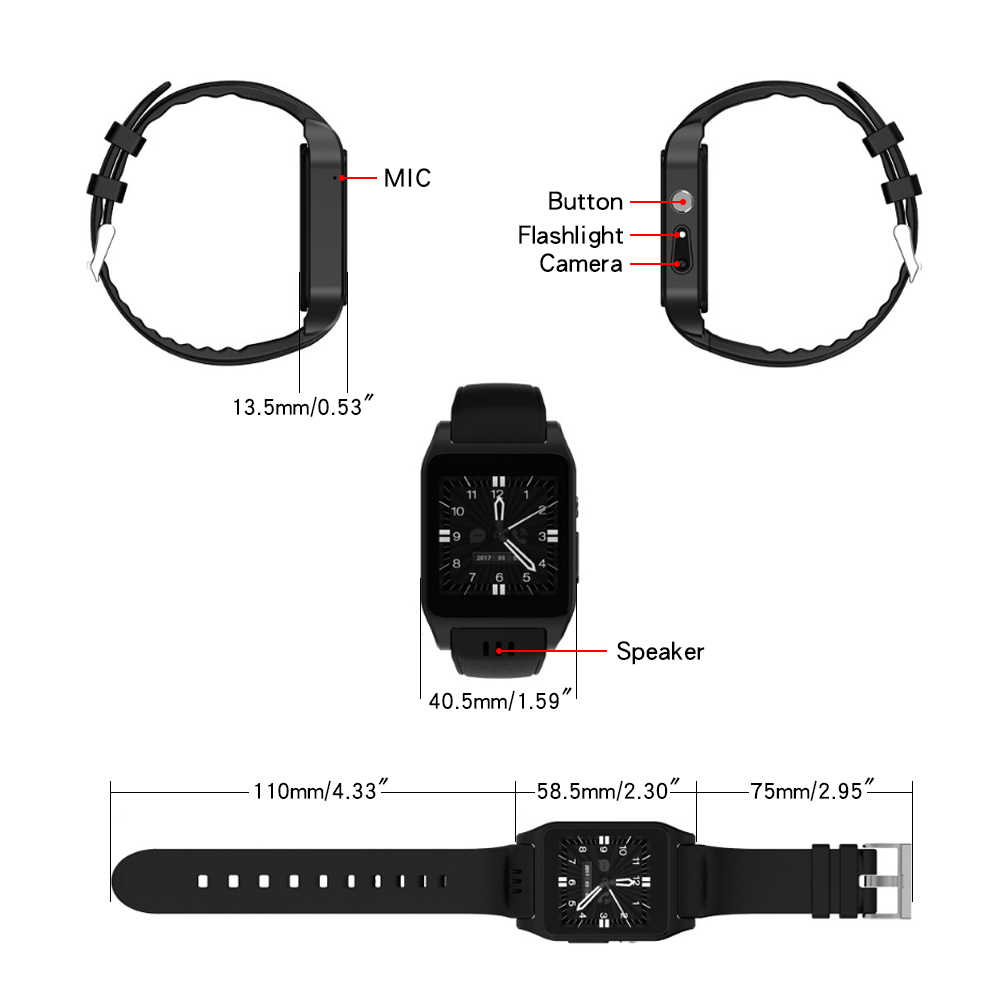 High Quality 3G WCDMA GPS Tracker X86 Smart Watch Real-time information tips Entertainment function Sleep monitoring HD camera