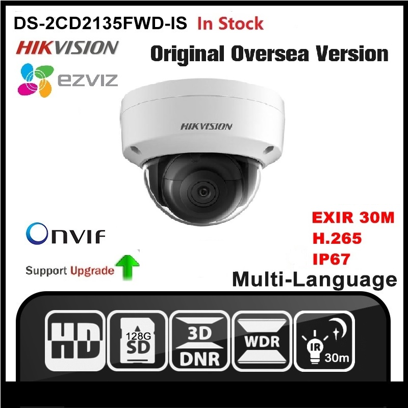 HIKVISION DS-2CD2135FWD-IS(2.8mm) English version 3MP IP camera Security camera POE ONVIF P2P CCTV camera H265 Network Camera cd диск fleetwood mac rumours 2 cd