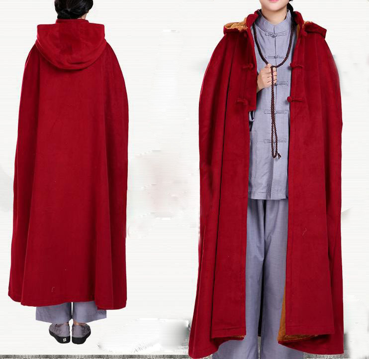 4colors Dark Red Brown Gray Camel Winter Warm Wool Buddhism Shaolin Monk Meditation Cloak Cape Robe Lay Zen Martial Arts Suits On Aliexpress