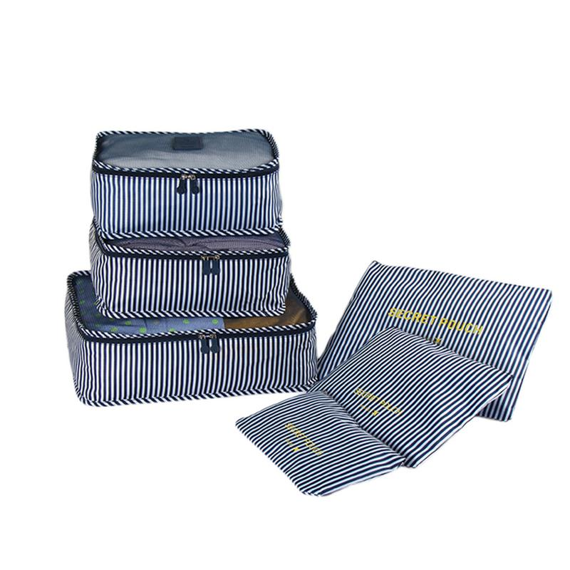 6PCS A Set Waterproof Travel Accessories Mesh Packing Luggage Organizers Bag Clothes Cube Storage Bags Clothes Storage Pouch Bag fashion 6pcs set travel bag waterproof clothes suit business travel luggage bag shoes clothing underwear organizer storage bags