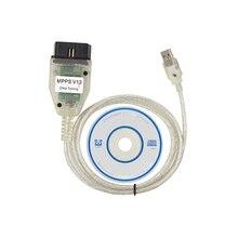 ECU MPPS V13.02 прошивка V13 чип тюнинг 12 В OBD 2 диагностический сканер кабель Высокое качество чипы USB порт OBD2 разъем адаптер