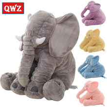 QWZ 40/60cm Infant Plush Elephant Soft Appease Elephant Playmate Calm Doll Baby Toy Elephant Pillow Plush Toys Stuffed Doll Gift new lovely plush gray elephant toy creative elephant doll boyfriend pillow doll about 120cm