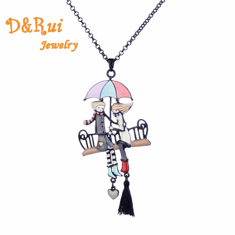 Fashion Creative Pendant Statement Necklaces Enamel Alloy Women Amorous Couples Jewelry Accessories Couple Necklace Wholesale