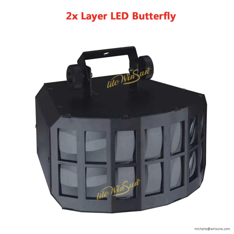 2x12w rgbw led butterfly laser lighting stage lighting 2019 new year lighting