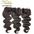 Only 1 Piece Peruvian Body Wave Closure Free Part Or Middle Part 10-20inch 6A Human Hair Bundles Peruvian Lace Closure