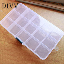 My House Storage Case Box Holder Container Pills Jewelry Nail Art Tips 15 Grids,jun 22