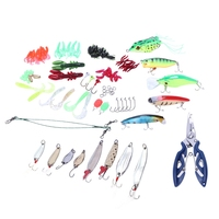 112 Pcs Fishing Lures Set Mixed Minnow Piler Spoon Hooks Fish Lure Kit In Box Isca Artificial Bait Fishing Gear Pesca|Fishing Lures| |  -