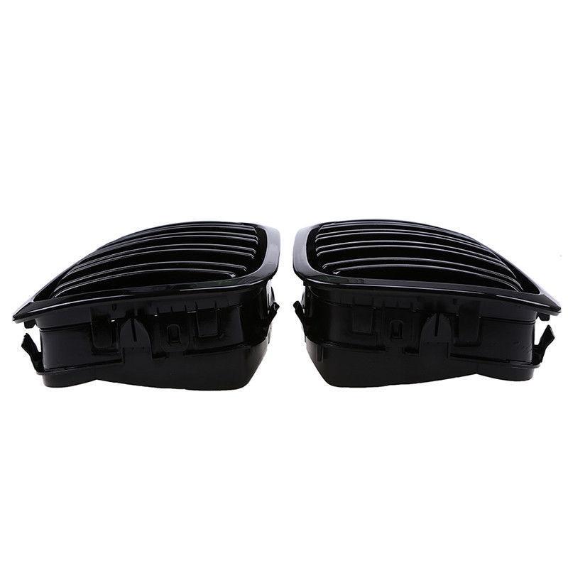 Remplacer les accessoires de calandre pour le couvercle de latte noir brillant de Coupe 98-01 BMW E46 2D - 3