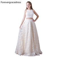 Forevergracedress New Arrival Two Piece Prom Dress A Line Lace Long Homecoming Evening Party Gown Plus Size Custom Made