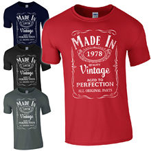 Custom Shirts Online  O-Neck Men Comfortable Made In 1978 T-Born 39Th Year Birthday Age Present Novelty Short Sleeve Tees