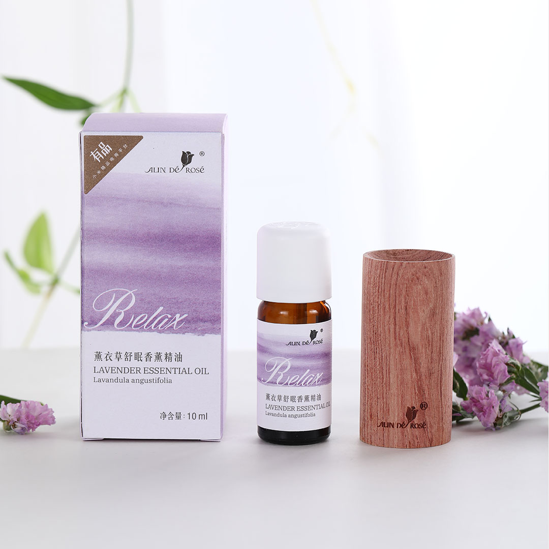 Natural Bulgarian Lavender Sleeping Essential Oil Aromatherapy Relax With Wood Diffuser For Skin Care Spa Fragrances Gift Box