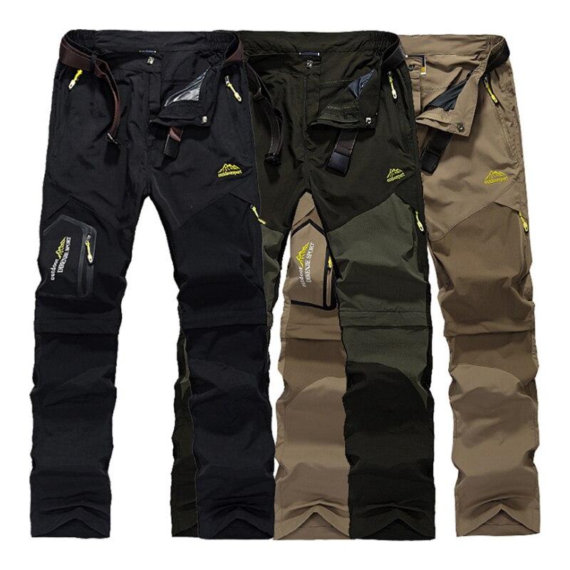 Men New Summer Hiking Trekking Fish Camp Climb Quick Dry Trousers Plus Size Travel Sport Oversized Waterproof Fast Dry Pant Belt