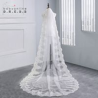 Cathedral Length Voile Mariage Lace Appliques 3M Long Veils Wedding Veils 2019 Bridal Veils With Comb Wedding Accessories