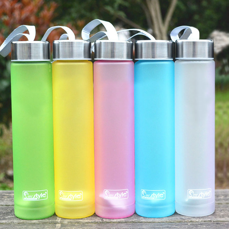 Muti Colors Portable Bike Sports Travel Unbreakable Plastic Water Bottle Cycling Camping Cup