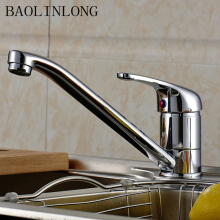 BAOLINLONG Brass Kitchen Faucet accessories Adjustable Cozinha Swivel Spout Sink Water Crane Silver Tap