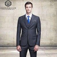 LN085 Jackets Vest Pants 2017 Mens Fashion Boutique Pure Color Groom Wedding Dress Suits Male Slim